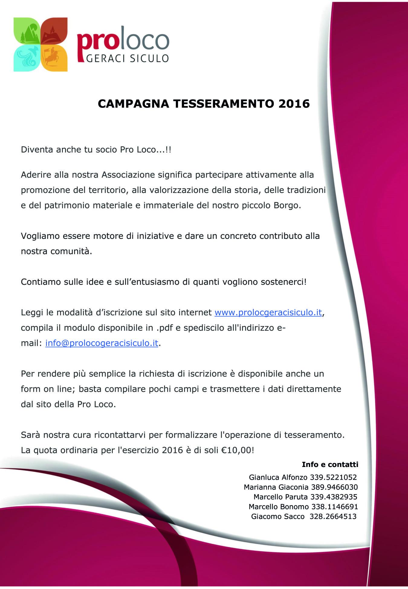CAMPAGNA TESSERAMENTO 2016-01