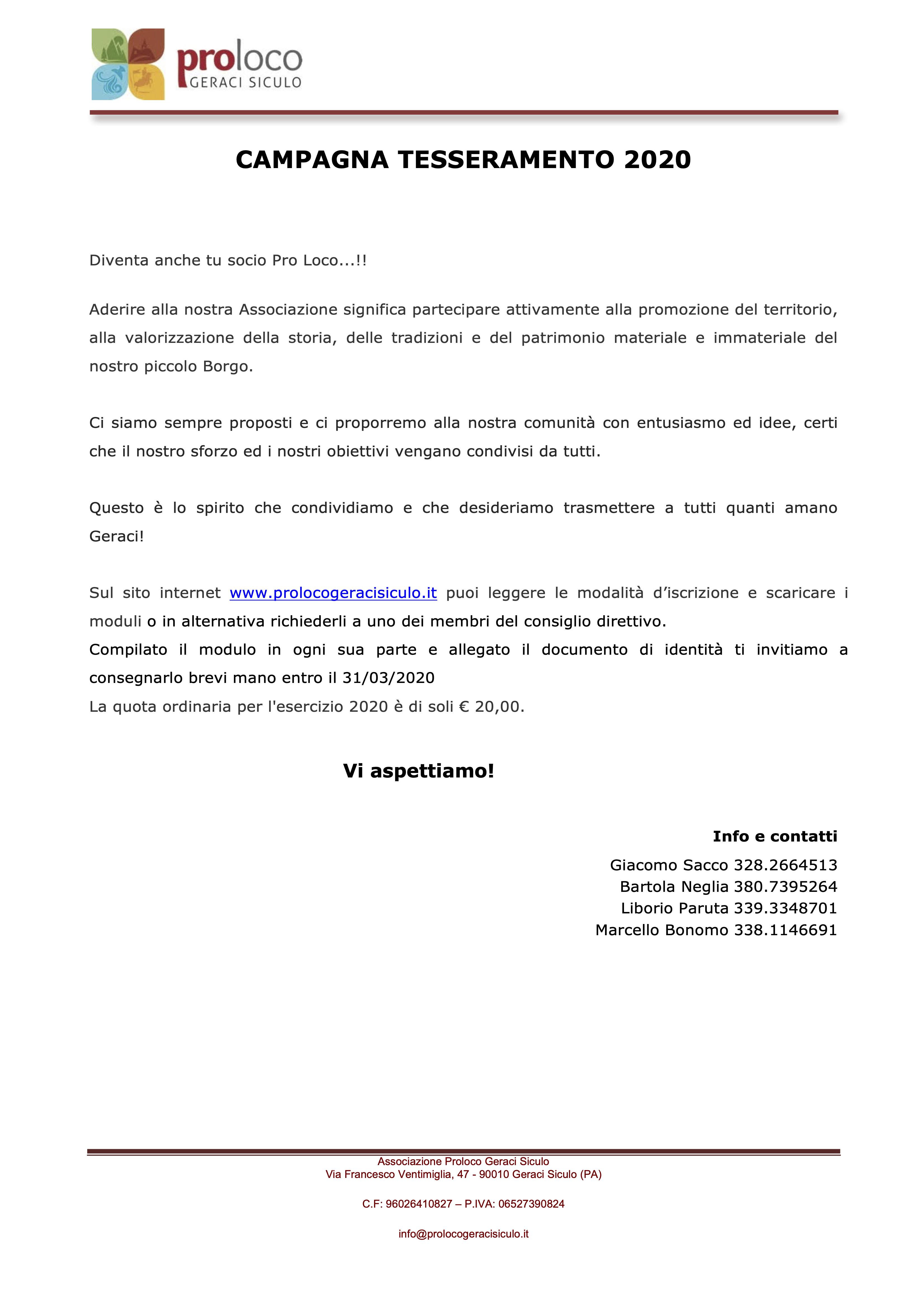 Pro_Loco_Geraci_Siculo_Tesseramento_2020