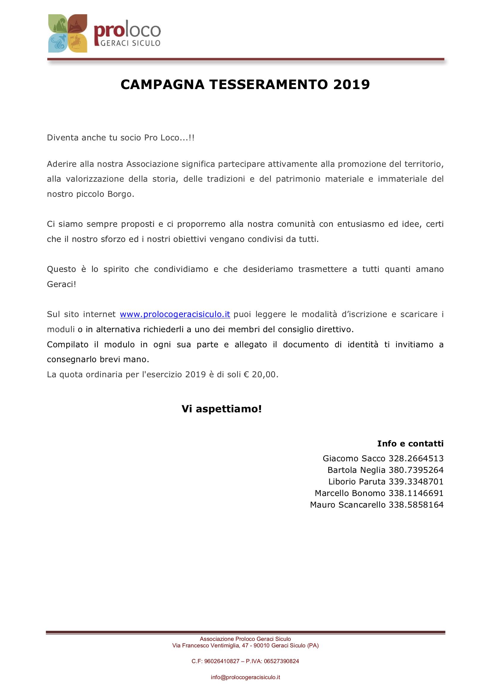 Pro_Loco_Geraci_Siculo_Tesseramento_2019